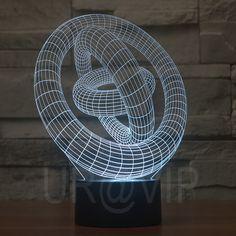 Pas cher Jc 2868 incroyable 3D Illusion led Table Lamp Night Light avec cercle magique forme, Acheter  Veilleuses de qualité directement des fournisseurs de Chine:             Chaque lampe a 7 couleur unique lumière et lumière clignotant.