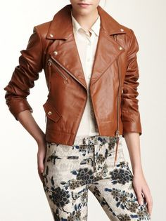 Light skinny jeans, white cross back tank top, brown leather short ...