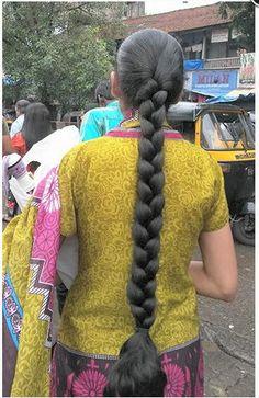 Slick Hairstyles, Long Bob Hairstyles, Indian Hairstyles, Braided Hairstyles, Beautiful Braids, Beautiful Long Hair, Beautiful Girl Image, Beautiful Women, Indian Long Hair Braid