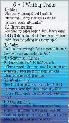 6+1 Writing Traits