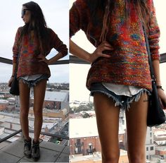 Lookbookstore Jumper, Wrangler Shorts, Zara Boots, Missguided Shirt  http://www.amazon.com/shops/QUALITYITEMZZ