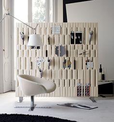Tapezierte Trennwand Raumteiler Design Zeitungen Hindurch Stecken