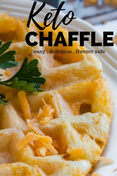 All the flavor of a Cheddar Bay Biscuit from your favorite lobster restaurant in a keto approved waffle. The Cheddar Bay Biscuit Chaffle is a delicious mix of savory garlic and cheddar cheese. Ketogenic Recipes, Low Carb Recipes, Cooking Recipes, Bread Recipes, Cooking Tips, Snacks Recipes, Keto Foods, Keto Snacks, Easy Recipes
