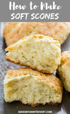 Every day is perfect for scones, and this tutorial will walk you through exactly how to make soft scones. These scones come out crisp on the outside and super soft and light in the middle. They are the perfect base for all sorts of add-ins! Breakfast And Brunch, Breakfast Scones, Brunch Recipes, Breakfast Recipes, Dessert Recipes, Bread And Pastries, Basic Scones, Mini Scones, How To Make Scones