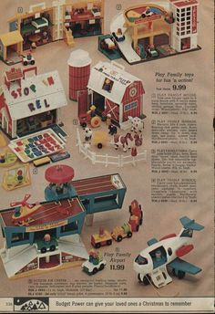 "1980's TOYS- we had the parking garage/shopping center at my ""Hill"" Grandma's house!"