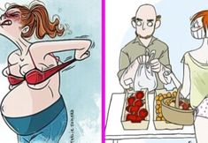 21 Amazing illustrations that show what it really means to be a mom Belly Pooch Workout, Lower Belly Workout, Lower Belly Fat, Lose Belly, Benefits Of Strength Training, Strength Training Workouts, Body Workouts, Workout Routines, Man Hats