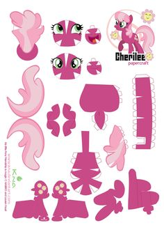 Cheerilee Papercraft pattern by *Kna on deviantART