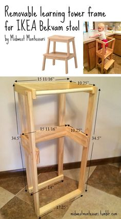 Our DIY IKEA Bekvam learning tower -   I've been asked so many times about our homemade learning tower. For those not familiar with the term, a learning tower is essentially a stool that has rails that make it safe for very young children…   - http://progres-shop.com/our-diy-ikea-bekvam-learning-tower/