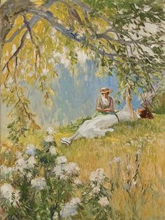 View Idyllic summer day by Wilbur Crane on artnet. Browse upcoming and past auction lots by Wilbur Crane. Old Paintings, Beautiful Paintings, Illustration Manga, Illustrations, Arte Peculiar, Lesbian Art, Victorian Art, Classical Art, Renaissance Art