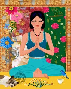 #Illustration #yoga #poster From a series of illustrated Yoga posters http://www.etsy.com/ca/shop/JACKIEPOPPRINTS