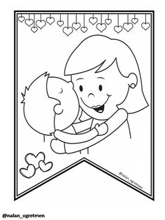 Mom Day, Colouring Pages, Adult Coloring, Congratulations, Preschool, Projects To Try, Clip Art, Activities, Drawings