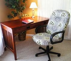 Doing this - I hate our desk chair and I never even thought about recovering it!!
