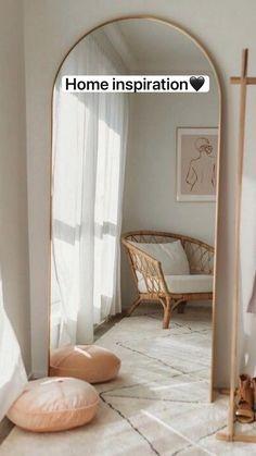 Room Ideas Bedroom, Home Decor Bedroom, Home Living Room, Bedroom Inspo, Home Room Design, Interior Design Living Room, Aesthetic Room Decor, House Rooms, Arch Mirror