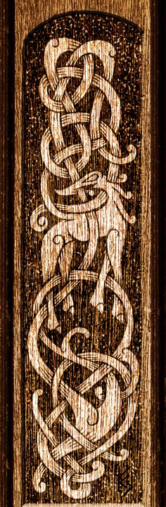 Beautiful Urnes Design - would be a great embroidery design for viking clothes.     Urnes by Wodenswolf.deviantart.com on @deviantART