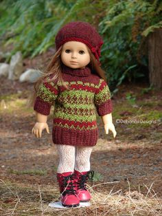 Hand Knit Sweater Dress set by Debonair Designs, $28.95