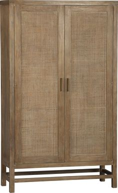 Master Bedroom Blake Grey Wash 2-Door Cabinet in Storage Cabinets | Crate and Barrel