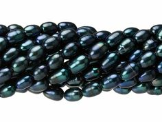 5-5.5mm Peacock Green Rice Freshwater Pearl Strand