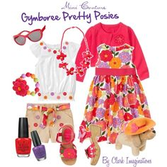"""Gymboree Pretty Posies Set 1"" by fallinlove82603 on Polyvore"