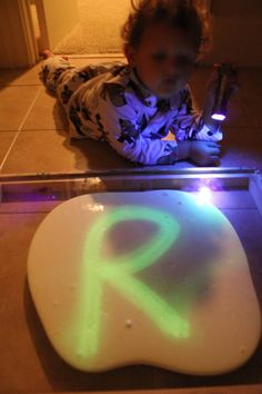 It's more like glow in the dark SLIME than Silly Putty but we still had fun. AND it's easy to wash off clothing, not that MY daughter would give me reason to know that. :)
