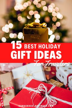 Searching for the perfect Christmas gift for the travel-lover in your life? Here are the best gifts for travelers they are sure to love! The ultimate gift guide for unique travel-themed gifts that are sure to be appreciated by the traveler in your life. For both men or women.  #Travel #GiftGuide #Christmas