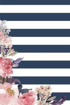 Image result for flower striped background