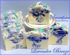 Lavender Breeze Luxury Shea Butter Soap-lavender soap, lavender essential oil, purple soap