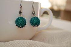 turquoise earrings #earrings #handmadejewelry #diyjewelry #beadedjewelry