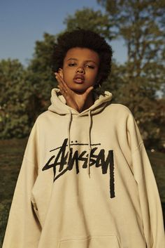 Not this one or this pose, but an oversized hoodie
