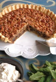 Chocolate bourbon pecan pie, copy cat recipe from Ralph's On The Park New Orleans