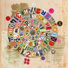 letter collage bullseye
