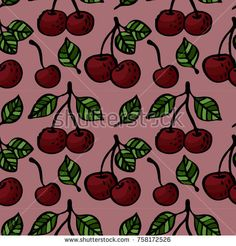 seamless cherry blossom hand drawing pattern on a pink background