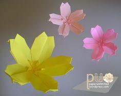 pu_unitflowers_sakura.png Rare Origami Cherry Blossom Diagram Download
