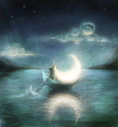 Floating moon by ~MariaHobbit on deviantART
