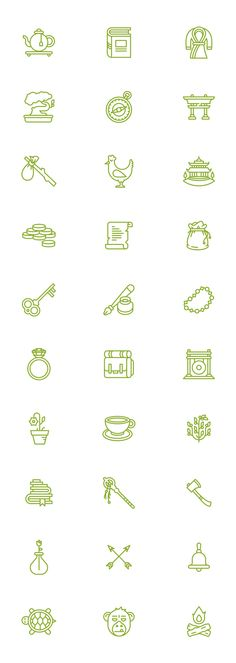 Illustrations for the office of Zendesk in San Francisco. Each meeting room in their office features an item from their mascot monk's stash.