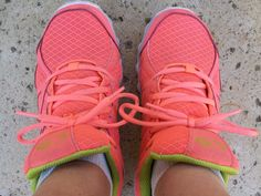 Love my pink running shoes. What do your running shoes look like?