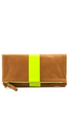 Clare V. Supreme Fold Over Clutch by: Clare V. @Shopbop/East Dane