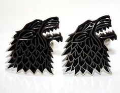 PAIR OF DIREWOLF CUFFLINKS. Winter is coming, so you wont have your sleeves rolled up, instead you can wear them down with these stylish Game of Thrones inspired cufflinks. £12.99