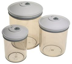 3 PIECE ROUND CANISTER SET VACUUM SEALER. Starting at $10 on Tophatter.com!