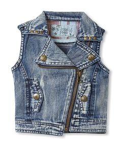 Bebe Bushh Girls Zip Vest at MYHABIT