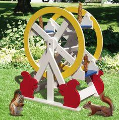 19-w3288 - Squirrel Feeder Ferris Wheel Woodworking Plan - Woodworkersworkshop®…