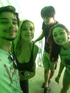 Devon Bostick, Lindsey Morgan, Eliza Taylor & Christopher Larkin II The 100 cast II Jasper Jordan, Raven Reyes, Clarke Griffin and Monty Green