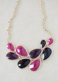 "Moderately priced costume jewelry. I love the tones in this ""berry hues necklace"" :)"