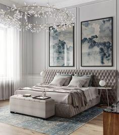 How to Design a Modern Bedroom Master Bedroom Interior, Luxury Bedroom Design, Master Bedroom Design, Home Bedroom, Modern Bedroom, Home Interior Design, Bedroom Decor, Bedroom Lighting, Classic Interior