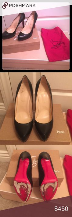 Christian louboutin 👠 Awesome black pumps. Used but still beautiful heels! They are 41 in size witch fits size 9. Original packaging with red bags for protection included! ❤️❤️❤️👠👠👠 Christian Louboutin Shoes Heels