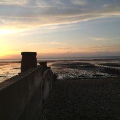 Whitstable beach sunset