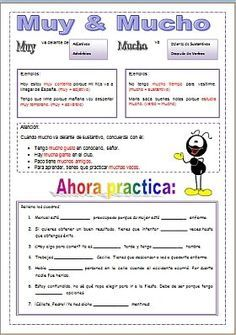 Resultado de imagen para juegos con mucho y muy en español