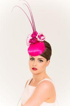 Hot Pink Silk Abaca Tear Drop Base w Fuchsia by BirettaAndBusby, $410.00