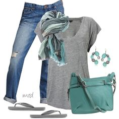 Grey & Turquoise- love the bag