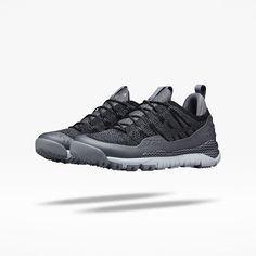 The Nike ACG Lupinek Flyknit Low SFB scales down the recent winter boot for  summer wear. A lightweight Flyknit upper is overlaid with kangaroo leather .