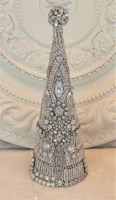 OMG! Wonderful RHINESTONE Jewelry Christmas Tree * brooches lot necklace earring #Unbranded